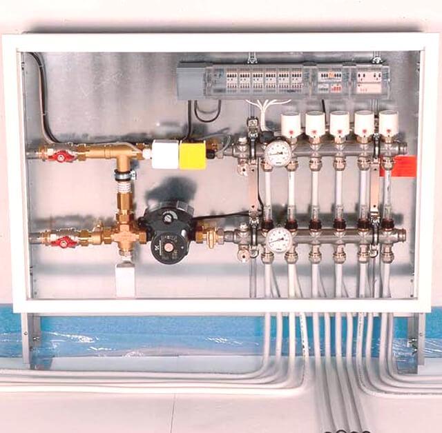 Circuito Electrico Simple Diagrama : Diagrama de conexión para un piso con calefacción cómo conectar